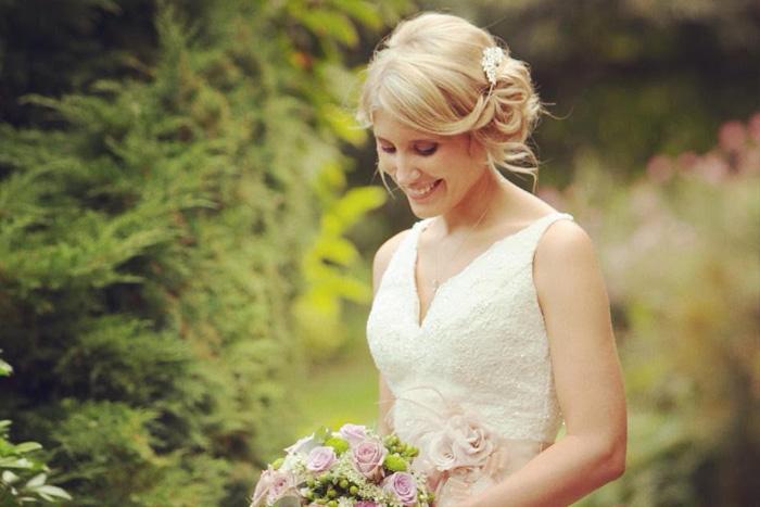 Bridal makeup by Joanne Cook