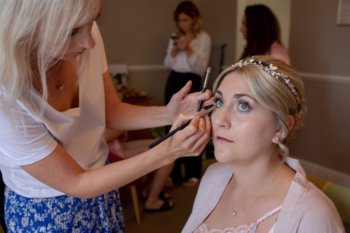 Bridal makeup by Jo Cook